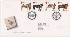 GB ROYAL MAIL FDC FIRST DAY COVER 1997 QUEEN'S HORSES STAMP SET WINDSOR PMK