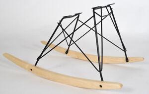 Real Maple Rocker Black Frame Chair Base for Vintage Herman Miller Eames Shell