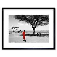 Maasai Tribe Africa Tanzania Art Framed Wall Art Print