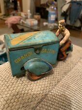 1940s INGAP GRANDI MAGAZZINI TIN WIND-UP TOY TRICYCLE MOTORCYCLE ITALY