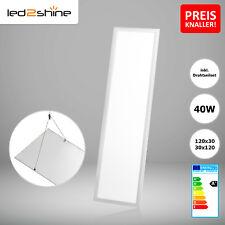 LED Panel 120x30 Deckenleuchte warmweiß 3000K mit Drahtseil 40W ultraslim PMMA