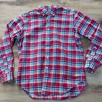 Ralph Lauren Mens Large Red Blue Yellow Plaid Button Down Shirt Classic Fit