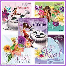 Tinker Bell Stickers x 5 - Tinkerbell Fawn Neverbeast Gruff - Birthday Favours