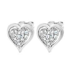 Enmarcado Corazón de Cristal Pendientes con Pasador
