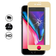 Screen Protection Film Tempered Glass Edge Curved YELLOW Apple iPhone 8 Plus 5.5
