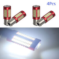 4x 1156 BA15S SMD 4014 106 White LED Bulbs Auto Brake Parking Lamp 9~28V 1900LM