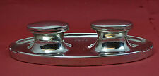 antique sterling silver Art Deco inkwell twin capstan Zimmerman Birmingham. 1924
