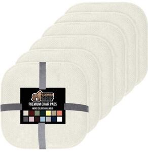 Gorilla Grip Premium Chair Pads 6 Pack Off White Stadium Chair Pad Memory Foam