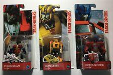 New : Hasbro Transformers 1st Edition Optimus Prime Bumble Bee Starscream 2 in 1