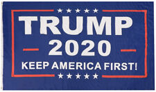 Trump 2020 Flag Keep America First! Blue 100D Poly Nylon 4x6 4'x6' Huge Flag