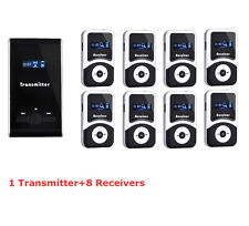 New Pro Wireless tour guide system,translation meeting visit church &8 receivers