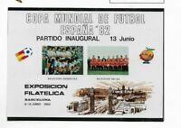 Mundial de Futbol España 82 Hojita conmemorativa del año 1982 (ET-515)