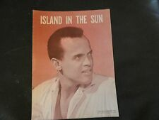 Island In The Sun By Harry Belafonte and Lloyd Burgess Sheet Music 1956