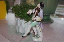 Antique - Samson - Man Playing Violin - Porcelain Figurine