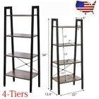 4-Tier Ladder Shelf Ladder Bookcase Bookshelf Display Storage Rack Plant Stand