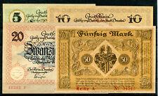 Dresden 4 Scheine 1918 .....................................................z685
