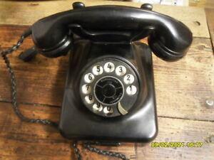 Telefon Post W38 sehr gut erhalten, Glasglocken funktioniert