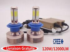 120W 12000LM LED CREE Phare Kit Ampoule Lampe H1 H4 H7 H11 Headlight 6000K Blanc