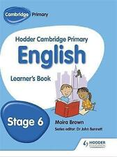 Hodder Cambridge Primary English: Learner's Book Stage 6, Good Condition Book, B
