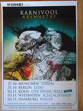 KARNIVOOL – ASYMMETRY 2013 TOUR   -  orig.Concert Poster  --  Konzert Plakat
