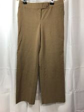 George By Mark Eisen Womens Dress Pants Size 8 Petite Brown Plaid Red Career