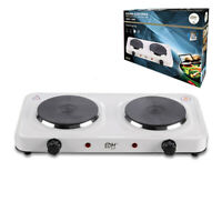 Cocina eléctrica 2 fuegos 1000-1500W camping cocina portatil envios en 24 horas