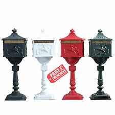 Antique VICTORIAN Style Post Box Letter Box Mailbox Free Standing Wedding 117cm