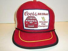 Vgt 80's Bill Elliott Coors Winston Cup Champion Patch Snapback Trucker Hat Cap