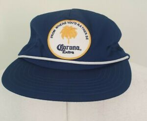 CORONA Extra Cap / Hat by Rythum - Blue Snap Back Adjustable - NEW WITH TAGS