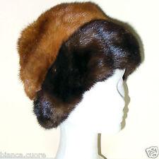 Cappello VISONE pelliccia marrone e miele colbacco donna tgl M - 57 ENTRA G103