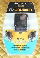 Vintage Sony Walkman SRF-36 Radio FM Stereo Receiver With Headphones Sealed RARE