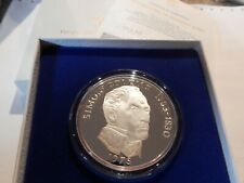 1975 Panama Vasco Nunez de Balboa 20 Balboas Coin Sterling Silver Proof