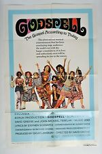 "Godspell Poster Movie One Sheet Folded 40"" x 27"" Stephen Schwartz Musical 1973"
