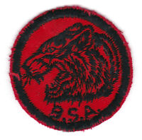 BSA RED TWILL PATROL PATCH TIGER - 2 INCHES DIAMETER - 1960s