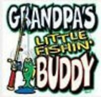 grandpa fishing buddy t shirt toddler youth boy girl funny US size >