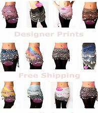 Wholesale Chiffon Belly dancing hip scarves for $5 each for 100 Lot