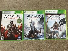 Assassin's Creed Games - II, III, Black Flag Xbox 360 Manual Included