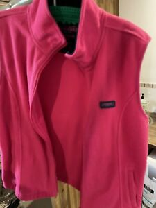 rm williams ladies 14 Pink Vest Zip Up With Pockets