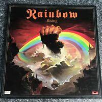RAINBOW RISING ORIGINAL 1976 UK 1st Press LP OYSTER LABEL GATEFOLD SLEEVE EX/EX