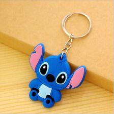 Disney lilo&stitch sitting silica gel key chain key chains