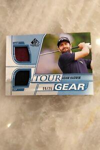 2021 SP Game Used Golf - Adam Hadwin Rookie Tour Gear Dual Shirt Card - 9/25