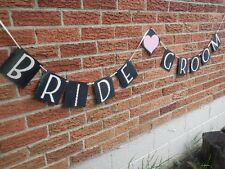 Bride Groom Wedding Banner Marriage Engagement Party Sign