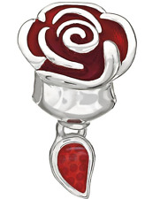 Chamilia Disney Beauty and the Beast Belle Rose Bead **Genuine and Brand New**