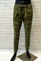 Pantalone Mimetico Uomo HOLLISTER Taglia S Jeans Gamba Dritta Chino Pants Man