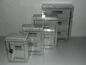 Kleinverteiler ,Feldverteiler , ABS,  Schaltkasten mit transparenter Tür IP 65