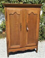 Antique cupboard,oak,French 2 door housekeeper's cupboard, shelving, linen,books