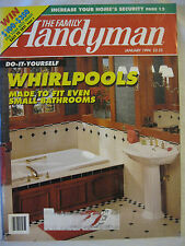 The Family Handyman January 1994 Do It Yourself WhirlPools To Fit Small Bathroom