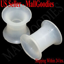 0914 Silicone Squishy Soft Clear 0 Gauge 0G Plugs 8mm