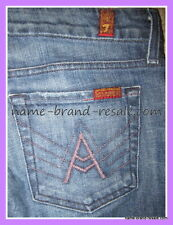 7 FOR ALL MANKIND A Pocket Jeans Womens 28 x 33 Slimming Faded Bootcut Boot