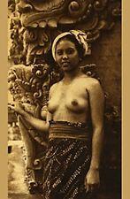 VINTAGE BALI BEAUTY w DEMON ETHNIC NUDE WOMAN INDONESIAN BALINESE BREASTS PHOTO